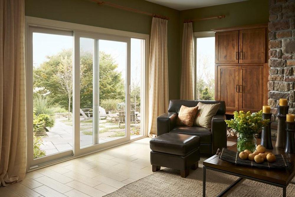 Sliding Glass Door In A Living Room