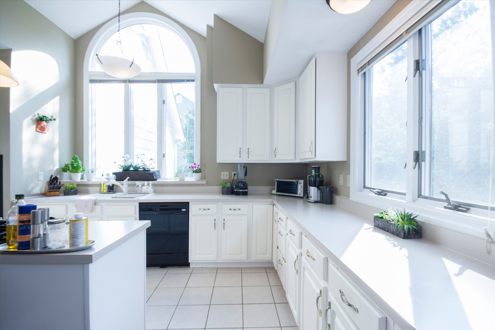 Kitchen With Newly Installed Windows