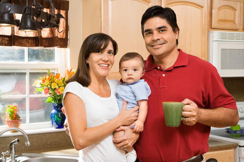 Latino Family At Home